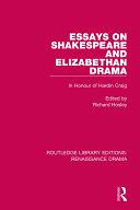 Essays on Shakespeare and Elizabethan Drama [Pdf/ePub] eBook