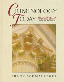 Criminology Today Book