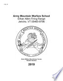 2019 Army Mountain Warfare School Curriculum Publications Combined  Basic Military Mountaineer Course   Advanced Military Mountaineer Course Summer   Winter Student Handouts