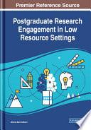 Postgraduate Research Engagement In Low Resource Settings