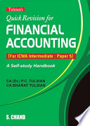 Quick Revision for Financial Accounting (For ICWA Intermediate: Paper 5)