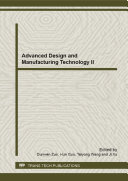 Advanced Design and Manufacturing Technology II