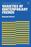 Pdf Varieties of Contemporary French Telecharger