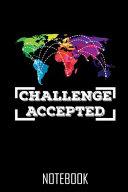 Challenge Accepted   Notebook   Notizbuch   100 Seiten   100 Pages   Journal