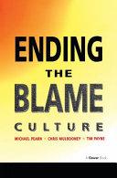 Ending the Blame Culture ebook