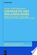 Onomastik des Rolandsliedes