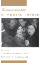 Homosexuality in Modern France Book