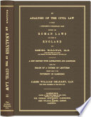 An Analysis of the Civil Law