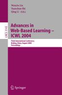 Advances in Web Based Learning   ICWL 2004