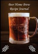 Beer Home Brew Recipe Journal