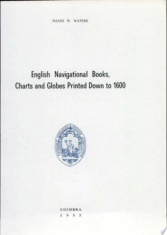 English Navigational Books, Charts