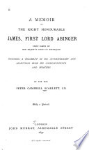 A Memoir of the Right Honourable James  First Lord Abinger  Chief Baron of Her Majesty s Court of Exchequer Book PDF
