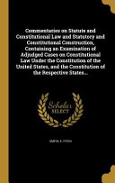COMMENTARIES ON STATUTE   CONS