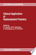 Clinical Application Of Radiolabelled Platelets Book PDF