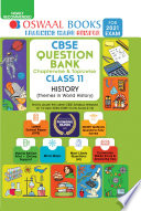 Oswaal CBSE Question Bank Chapterwise   Topicwise Class 11  History  For 2021 Exam