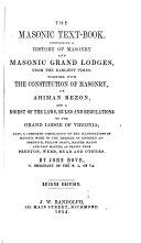 The Masonic Text book