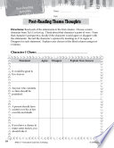 Tuck Everlasting Post-Reading Activities