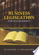 Business Legislation For Management 4th Edition