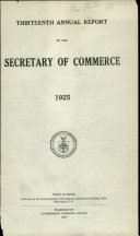 Annual Report Of The Secretary Of Commerce