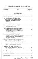 Texas Tech Journal of Education