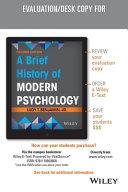 A Brief History of Modern Psychology  Evaluation Copy