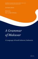A Grammar of Makasar
