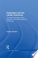 Federalism and the Lander Autonomy