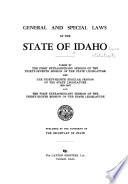 Idaho Session Laws