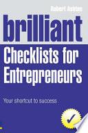 Brilliant Checklists for Entrepreneurs Book