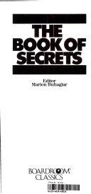Pdf The Book of Secrets