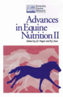 Advances in Equine Nutrition II Book