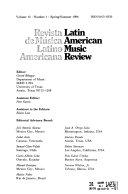 Latin American Music Review Book PDF