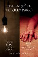 Coffret des enquêtes de Riley Paige : De Sac Et De Corde (t. 7) & Un Plat Qui se Mange Froid (t. 8)