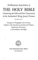 The Westminster Study Edition of the Holy Bible