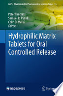 Hydrophilic Matrix Tablets For Oral Controlled Release Book PDF