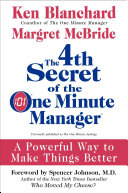 The 4th Secret of the One Minute Manager Book
