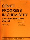 Soviet Progress in Chemistry Book