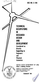 Technical Occupations in Research Design and Development