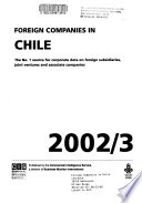 Foreign Companies in Chile Yearbook