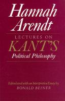 Lectures on Kant's Political Philosophy [Pdf/ePub] eBook