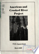 Nez Perce National Forest  N F    American and Crooked River Project