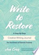 Write to Restore Book