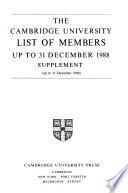 Cambridge University List of Members