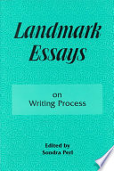 Landmark Essays on Writing Process Book