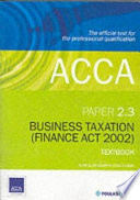 ACCA Official Textbook