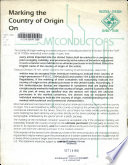 Marking the Country of Origin on Semiconductors Book