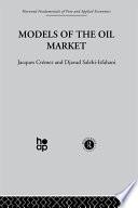 Models of the Oil Market