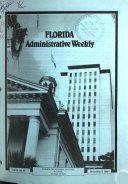 Pdf Florida Administrative Weekly