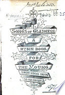 Songs of Gladness  etc Book