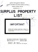 Surplus Material Bulletin